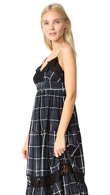 VETIVER Communication Breakdown Maxi Dress