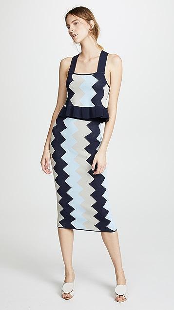 VETIVER Rockaway Zigzag Skirt