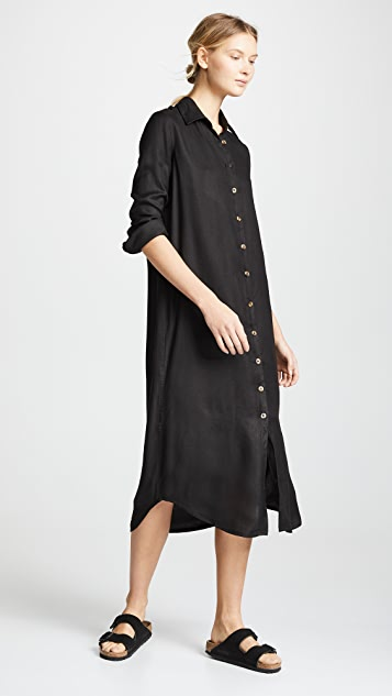 VETIVER Avalon Button Up Maxi Dress