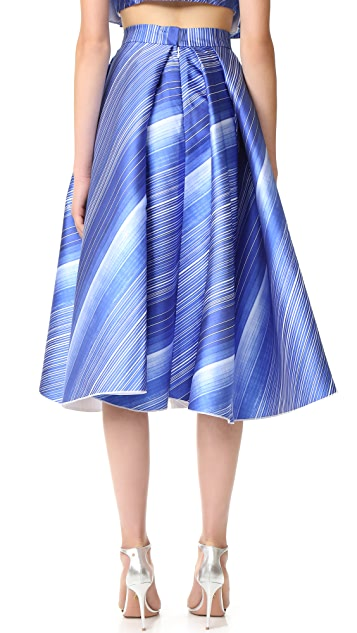 Vika Gazinskaya Pleated Bell Shaped Skirt