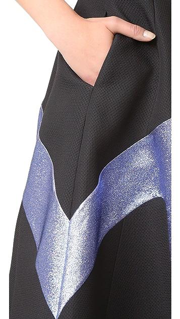 Vika Gazinskaya Metallic Detail Skirt