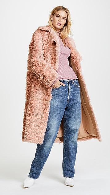 Vika Gazinskaya Oversized Faux Fur Coat