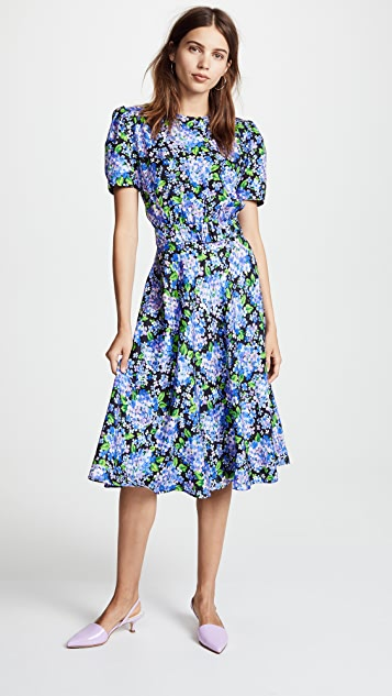 Vika Gazinskaya Fitted Tea Length Dress