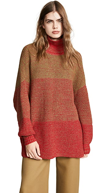 Vika Gazinskaya Oversize Colorblock Sweater