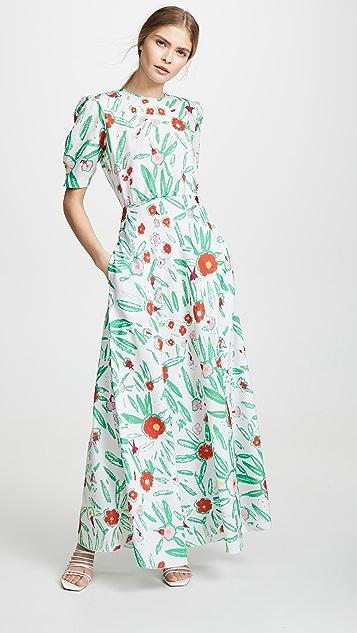 Vika Gazinskaya Облегающее платье с цветочным принтом
