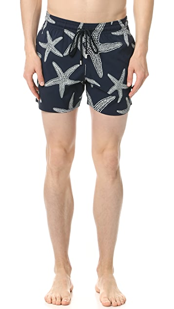 Vilebrequin Glow in the Dark Starfish Trunks