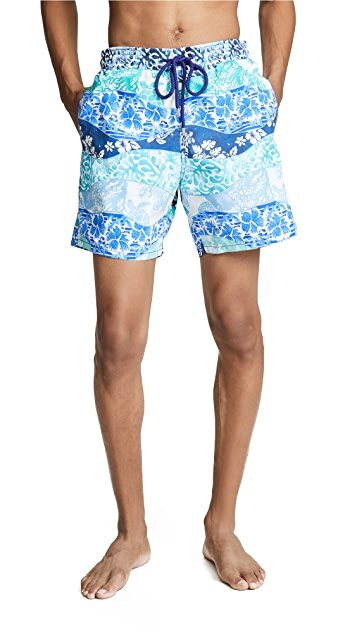 Vilebrequin Vagues Heritage Swim Trunks