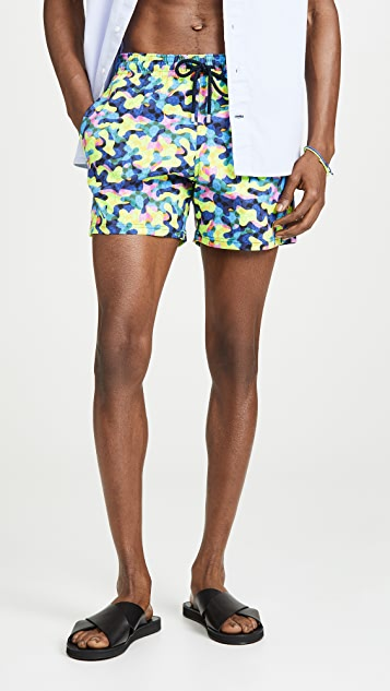 Vilebrequin Neo Camo Stretch Moorea Swim Trunks