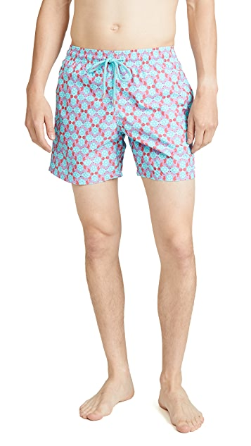 Vilebrequin Cherry Blossom Turtles Moorea Swim Trunks