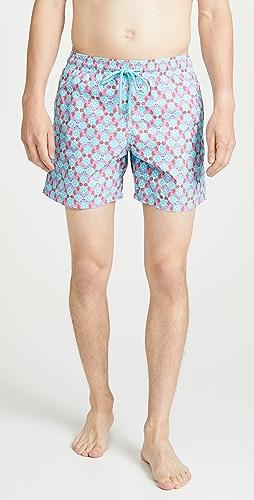 Vilebrequin - Cherry Blossom Turtles Moorea Swim Trunks