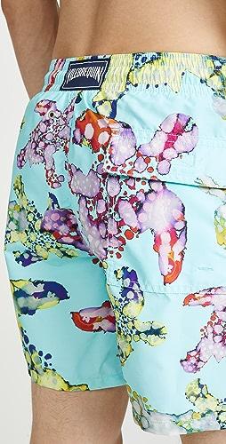 Vilebrequin - Watercolor Turtles Moorea Swim Trunks