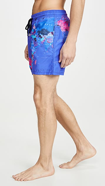 Vilebrequin Mappemonde Sonar Swim Trunks