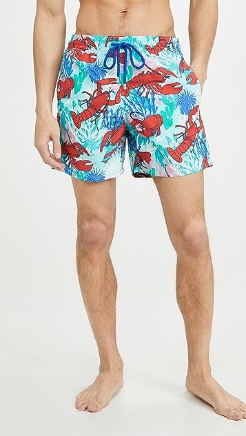Vilebrequin Lobster and Coral Moorea Swim Trunks