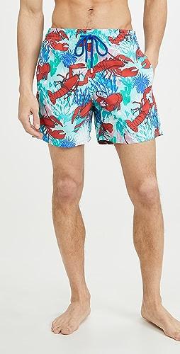 Vilebrequin - Lobster and Coral Moorea Swim Trunks