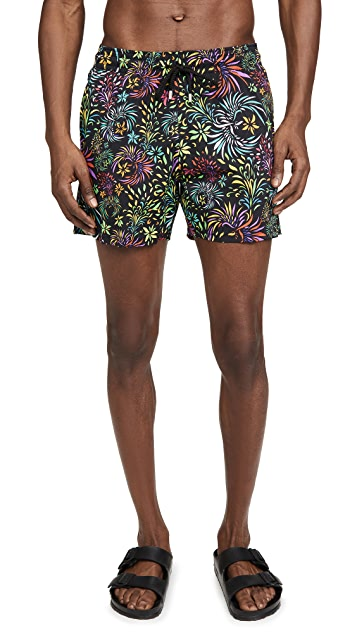 Vilebrequin Even Birds Superflex Swim Trunks