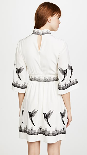 Vilshenko Linea Bird Mini Dress