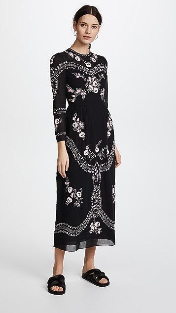 Vilshenko Darcel Round Neck Dress