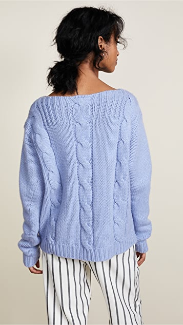 Vilshenko Molly Cable Hand Knit Sweater