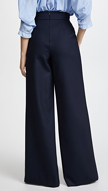 Vilshenko Orla Wool Lace Up Wide Leg Trousers