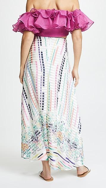 Vilshenko Rosa Stripe Full Length Skirt