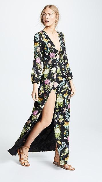 Vilshenko Briony V Neck Full Length Dress