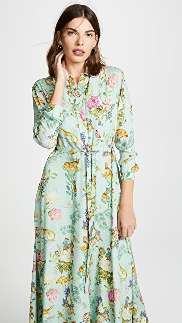 Vilshenko Holly Silk Shirt Dress