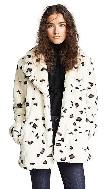 Vilshenko Klara Faux Fur Leopard Coat
