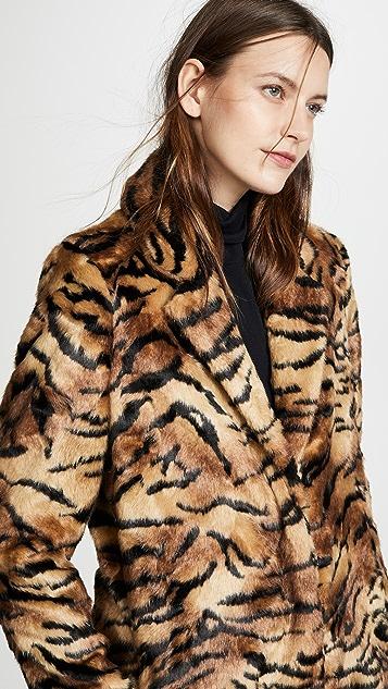 Vilshenko Faye Faux Fur Tiger Coat