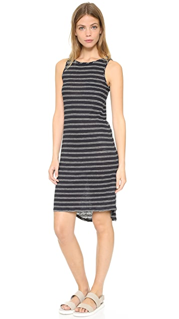 Vince Double Stripe Tank Dress