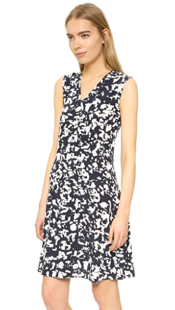 Vince Confetti Print Front Pleat Dress