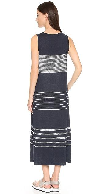 Vince Striped Linen Tank Dress