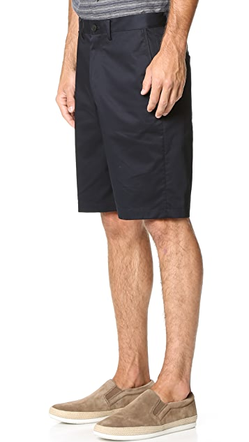 Vince Cotton Sateen Urban Shorts