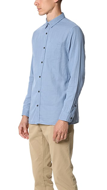 Vince Double Weave Square Hem Melrose Shirt