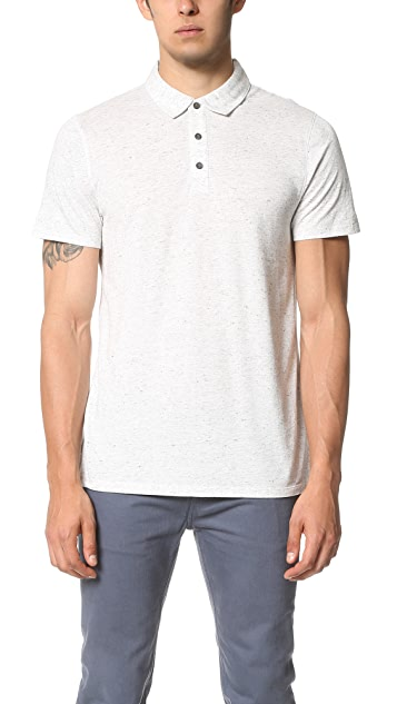 Vince Mixed Stitch Polo Shirt