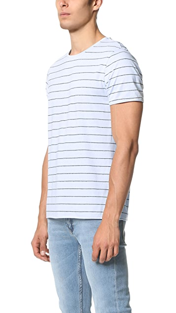 Vince Shadow Stripe Crew Tee