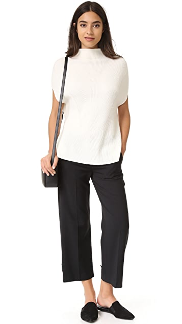 Vince Sleeveless Turtleneck with Panel Sides
