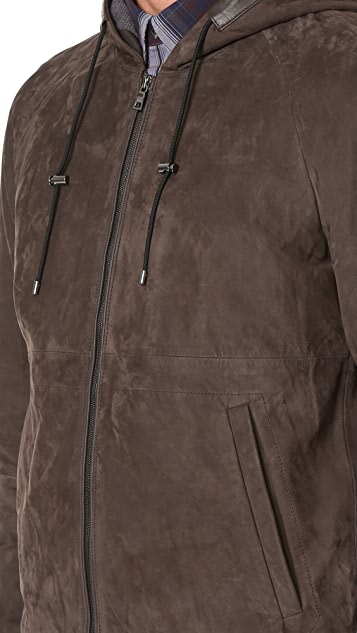 Vince Nubuck Hooded Jacket