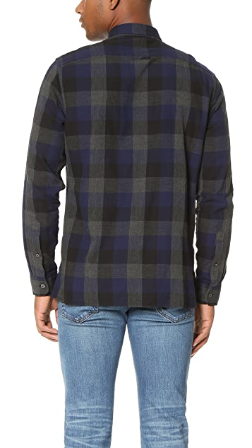 Vince Melange Buffalo Check Shirt