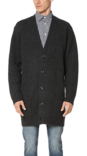 Vince Wool Cardigan Coat