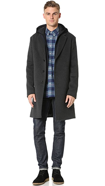 Vince Wool Melton 2 in 1 Storm Coat