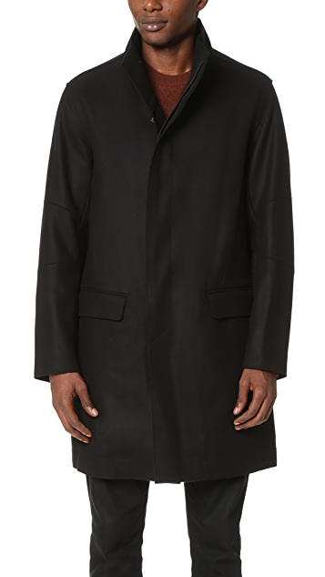Vince Raw Edge Military Coat