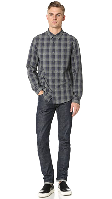 Vince Ombre Plaid Shirt