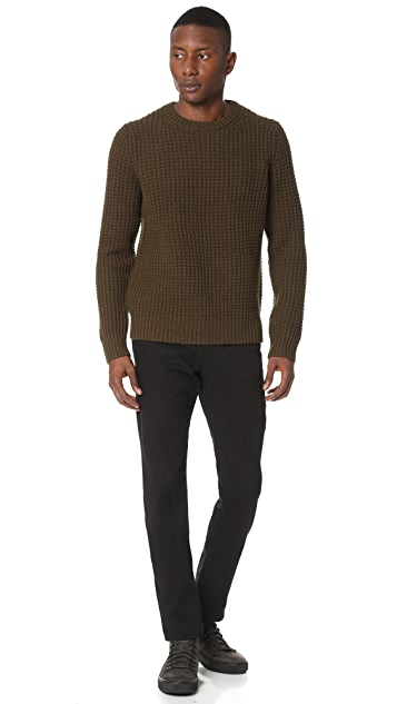 Vince Cashmere Chunky Waffle Crew Sweater