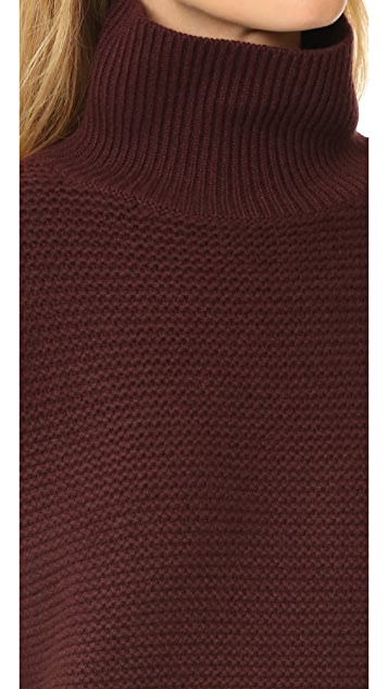 Vince Cowl Horizontal Rib Sweater