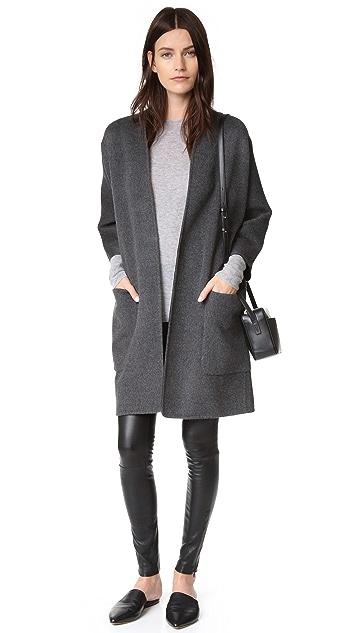 Vince Reversible Felt Cardigan Coat