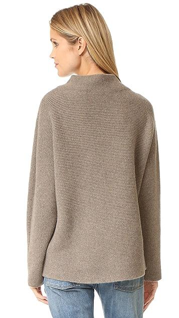 Vince Cropped Horizontal Rib Sweater