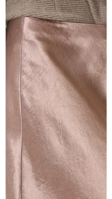 Vince Satin Flare Skirt
