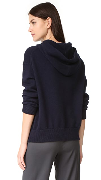 Vince Cashmere Crossover Hood Sweater