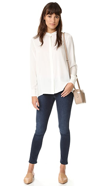 Vince Slit Back Blouse