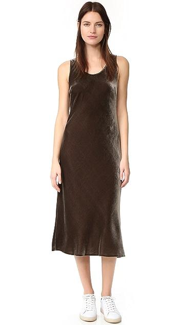 Vince Soft Velvet Tank Dress
